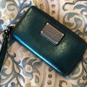 Marc by Marc Jacobs Metallic Teal Zip Wristlet